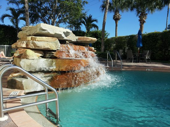Hilton Naples:                   Hilton pool waterfall