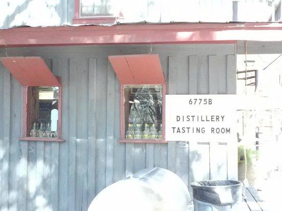 Firefly Distillery:                   Distiller tasting room