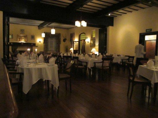 Hill Club Restaurant :                   the formal dining room