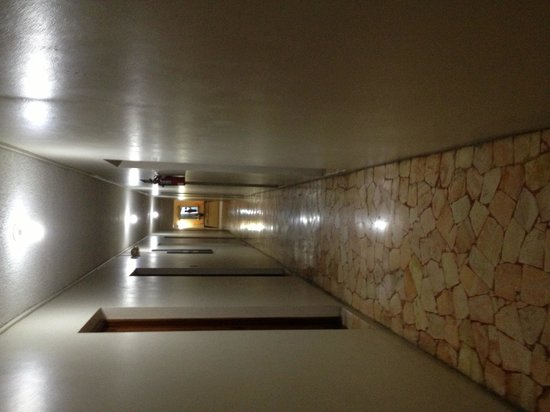 Toby's Resort:                   Spooky hallways, the other end had a rebar gate