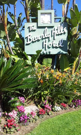 The Beverly Hills Hotel:                   The entrance of the hotel
