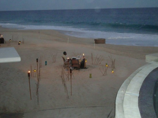Marquis Los Cabos All-Inclusive Resort & Spa:                   Private dinner on the beach
