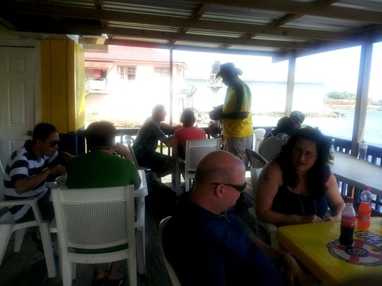 Two Dove Bar & Restaurant:                   The Restaurant with Tourist...