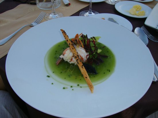 Marquis Los Cabos:                   Salad at private beach dinner