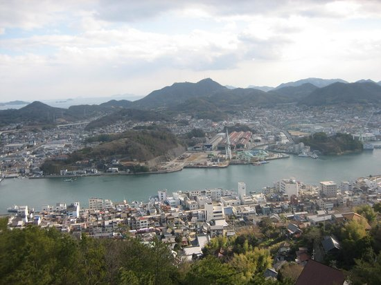 Onomichi, Japan:                                                       View from the hilltop of Senkoji park 2)
