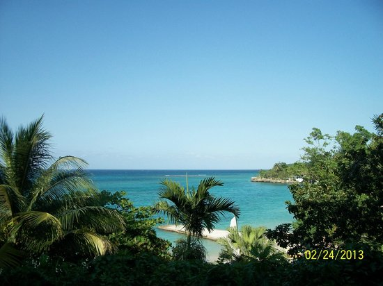 Sandals Royal Plantation :                   The view from room 107
