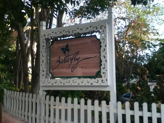 Butterfly Beach Hotel:                   The Hotel Sign