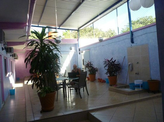 Carmelita's Hotel:                   back court yard