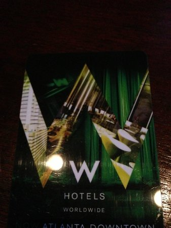 W Atlanta Midtown: room key