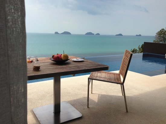 Conrad Koh Samui:                                     View from room 205 see more photos at