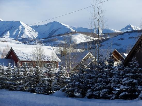 Elk Mountain Lodge: View from our window