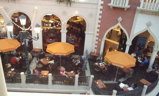 The Venetian Las Vegas:                   view from one of the restaurants