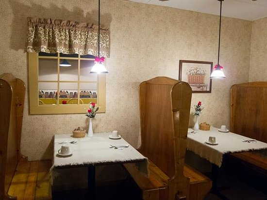 Village Peddler Country Store:                                     Quasi-private dining room in the center of the dining area