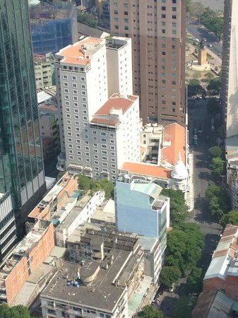 Grand Hotel Saigon:                   View of Grand from Saigon Skydeck