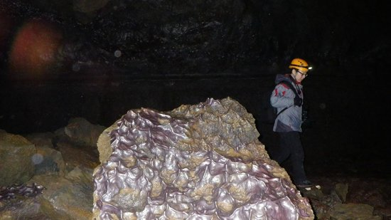 Eskimos Iceland:                   Inside one of the Lave Caves
