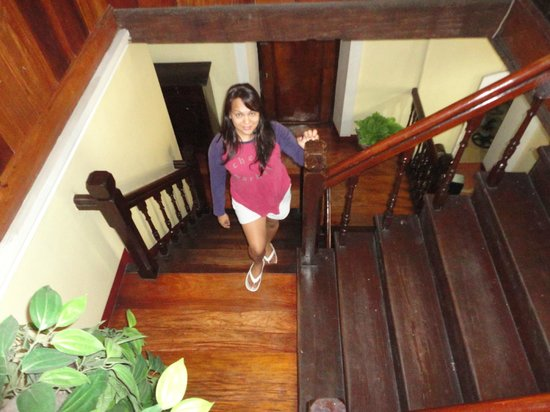 Vigan Heritage Mansion:                   the stairs going to the 2nd flr. all the rooms are located in 2nd floor