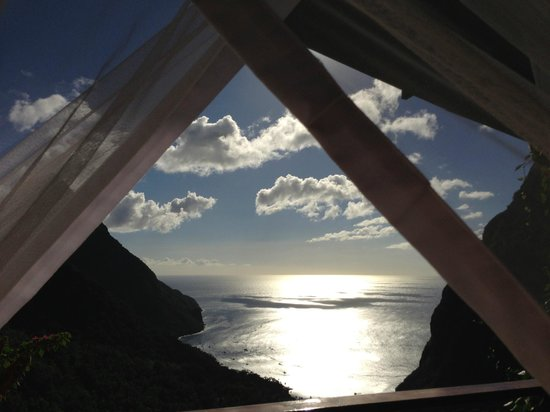 Ladera Resort:                   View from bed
