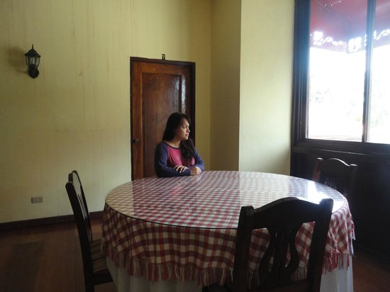 Vigan Heritage Mansion:                   a dining table in front of our room