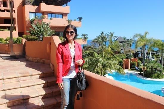 Kempinski Hotel Bahia:                   op het terras