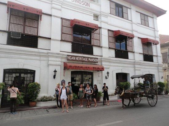 front of vigan heritage mansion
