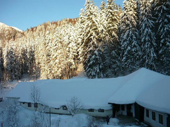 Cabana Gura Diham: Peisaj hibernal pe Valea Cerbului