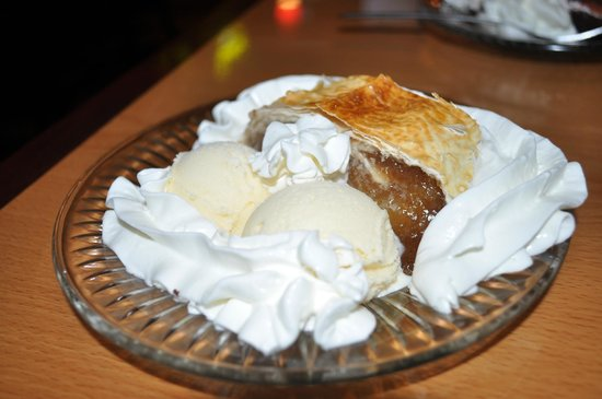 Hallo Berlin - 10th Ave:                   Apfelstrudel with scoop of Vanilla Ice Cream