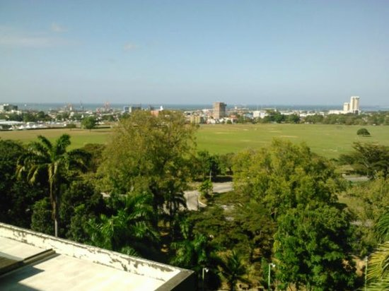 Hilton Trinidad & Conference Centre:                   view of savannah and ocean from the main wing