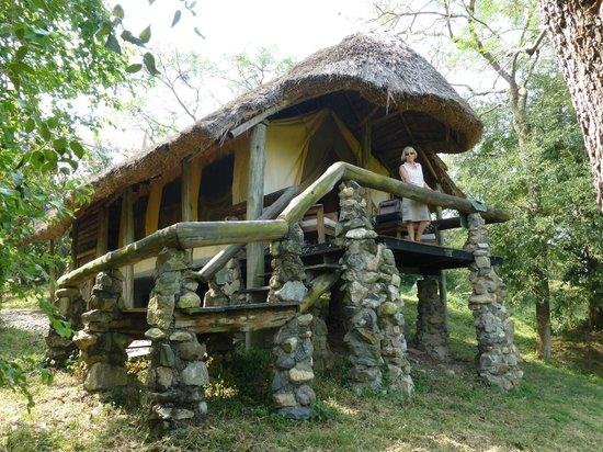 Semliki Safari Lodge:                   We heard exciting noises in the night!