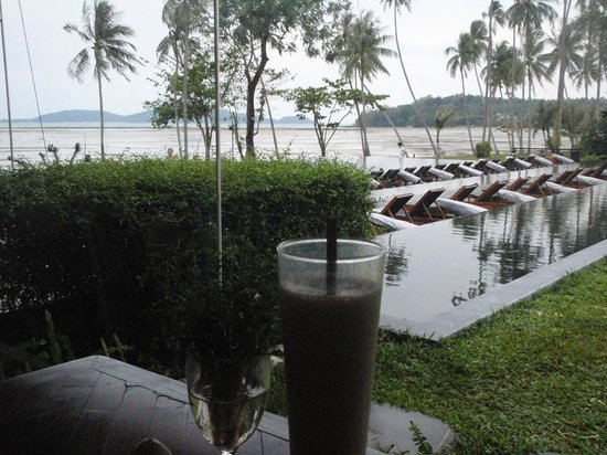 The Vijitt Resort Phuket:                   From the enclosed dining area - this part of the dining area is air conditione