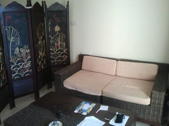 Papillon Residence : salon et paravent