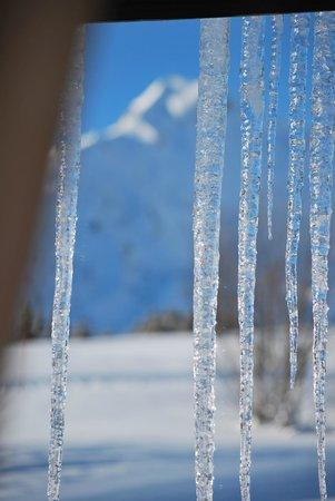 Chalet Sous le Jora: Vue glacée