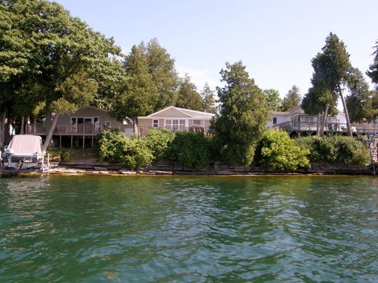 Angel Rock Cottages:                   Waterfront Cottage View of the St Lawrence River