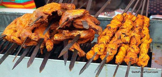 Food Tour in Delhi: Meat tikka, kebab