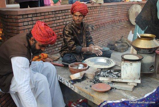 Food Tour in Delhi: Preparing authentic Rajasthani food