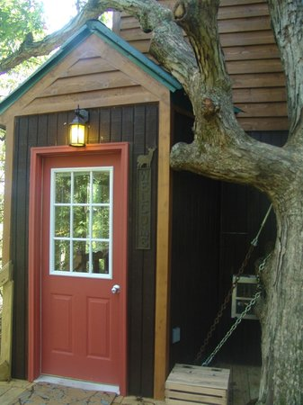 Timber Ridge Outpost & Cabins: White Oak tree house entrance