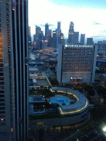 Conrad Centennial Singapore:                   View from 25th Floor Room