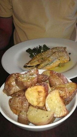 a la grecque:                   lovely grilled whiting with.rosemary potatoes.