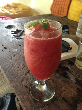 Yellow Flower Cafe :                   watermelon frappe