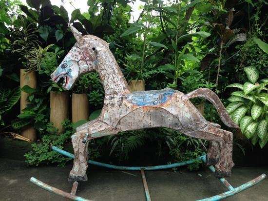 Yellow Flower Cafe:                   rocking horse