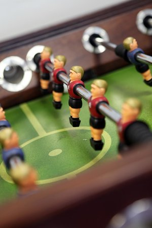 Alnwick Youth Hostel: Table foot ball in the games room