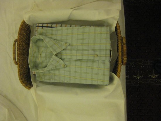 ITC Mughal, Agra:                   Lovely treat: 2 shirts washed/ironed, no charge