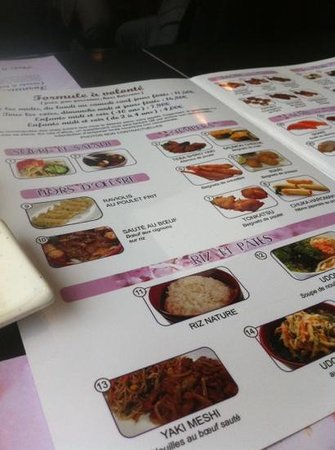 Sushi :                   menu