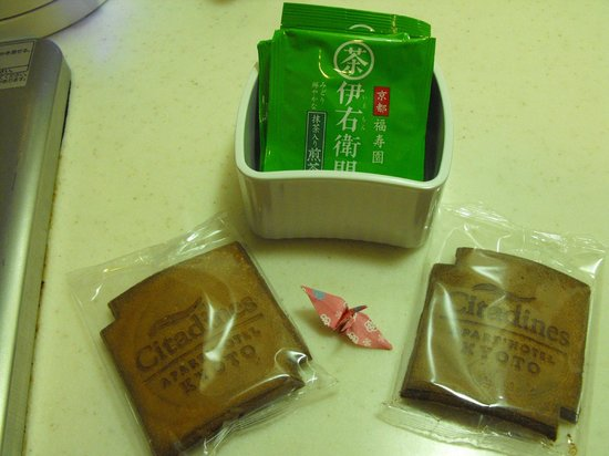 Citadines Karasuma-Gojo Kyoto:                   Cookies & green tea bags provided