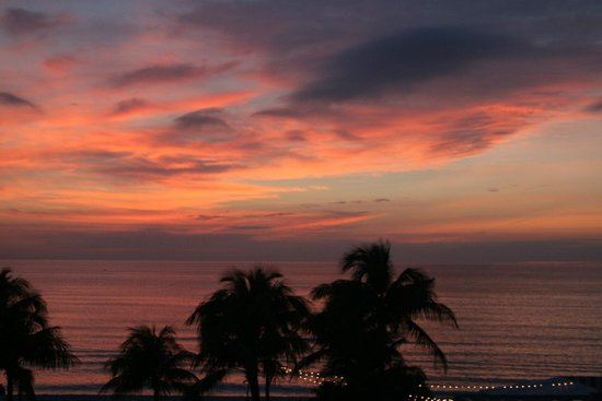 The Naples Beach Hotel & Golf Club:                   Sunset from room