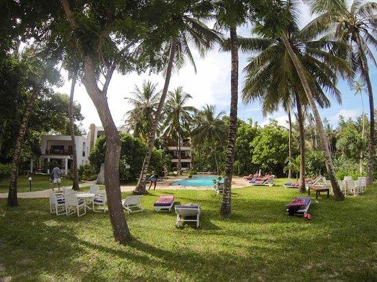 Galu Sea Lodge -Tamani:                                     Pool and Lodge Garden