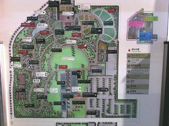 Hiratsuka, Japan:                   公園内地図