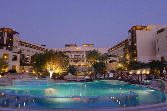 Jordan Valley Marriott Resort & Spa:                   Twilight view