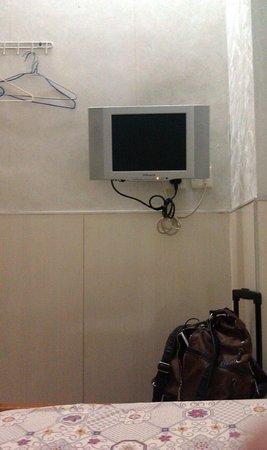 "Hong Kong Budget Hostel:                   14"" TV in room"