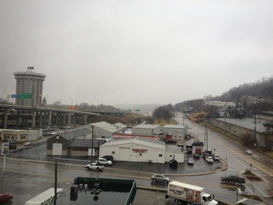 Hampton Inn Cincinnati Riverfront (Downtown Area):                   View from room, notice highway (noise)