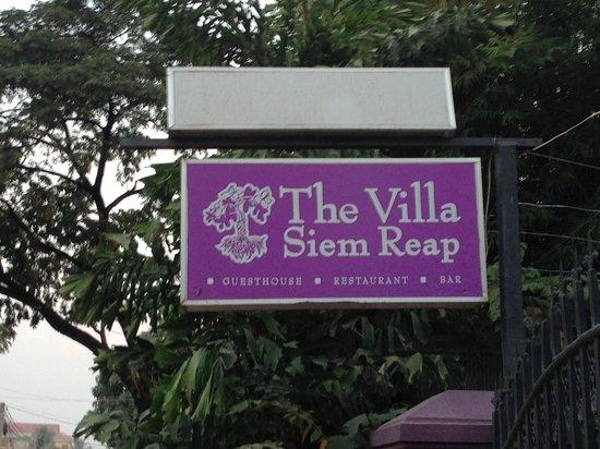 The Villa Siem Reap:                   Entrance